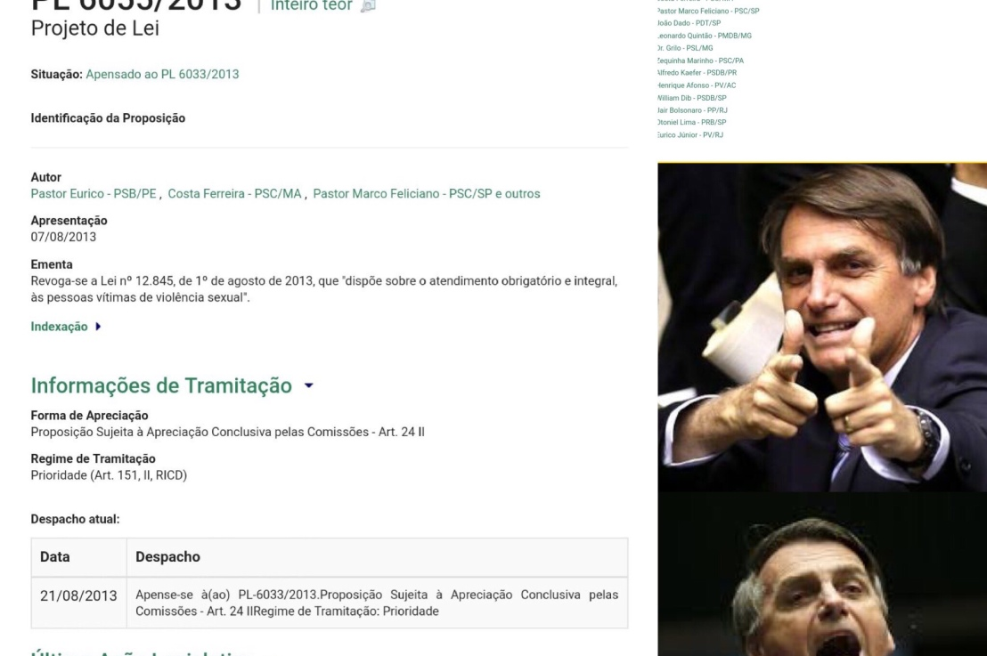 Se o contexto deste projeto foi impedir que mulheres abusadas sexualmente sejam atendidas no SUS afirmo: Mulheres que votarem no Bolsonaro não respeitam mulheres. O Brasil precisa abortar Bolsonaro enquanto hátempo!