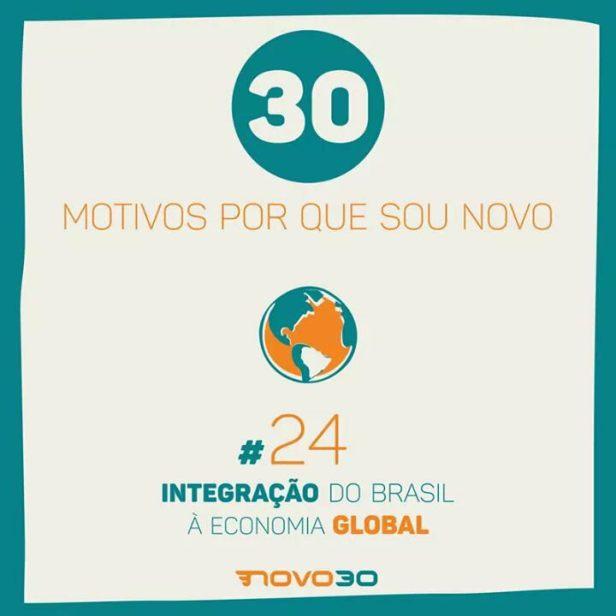 MOTIVOS_QUE_SOU_NOVO-INTEGRACAO BRASIL ECONOMIA GLOBAL
