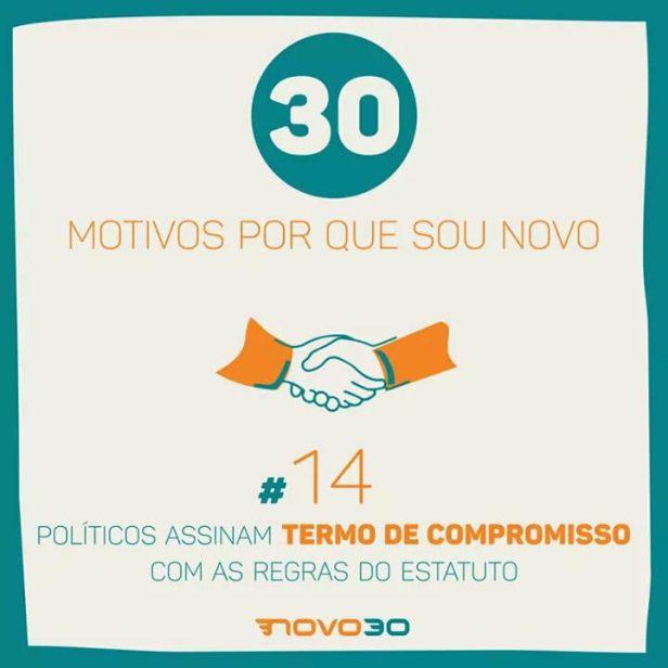 MOTIVOS_QUE_SOU_NOVO-POLITICOS ASSINAM TERMO DE COMPROMISSO