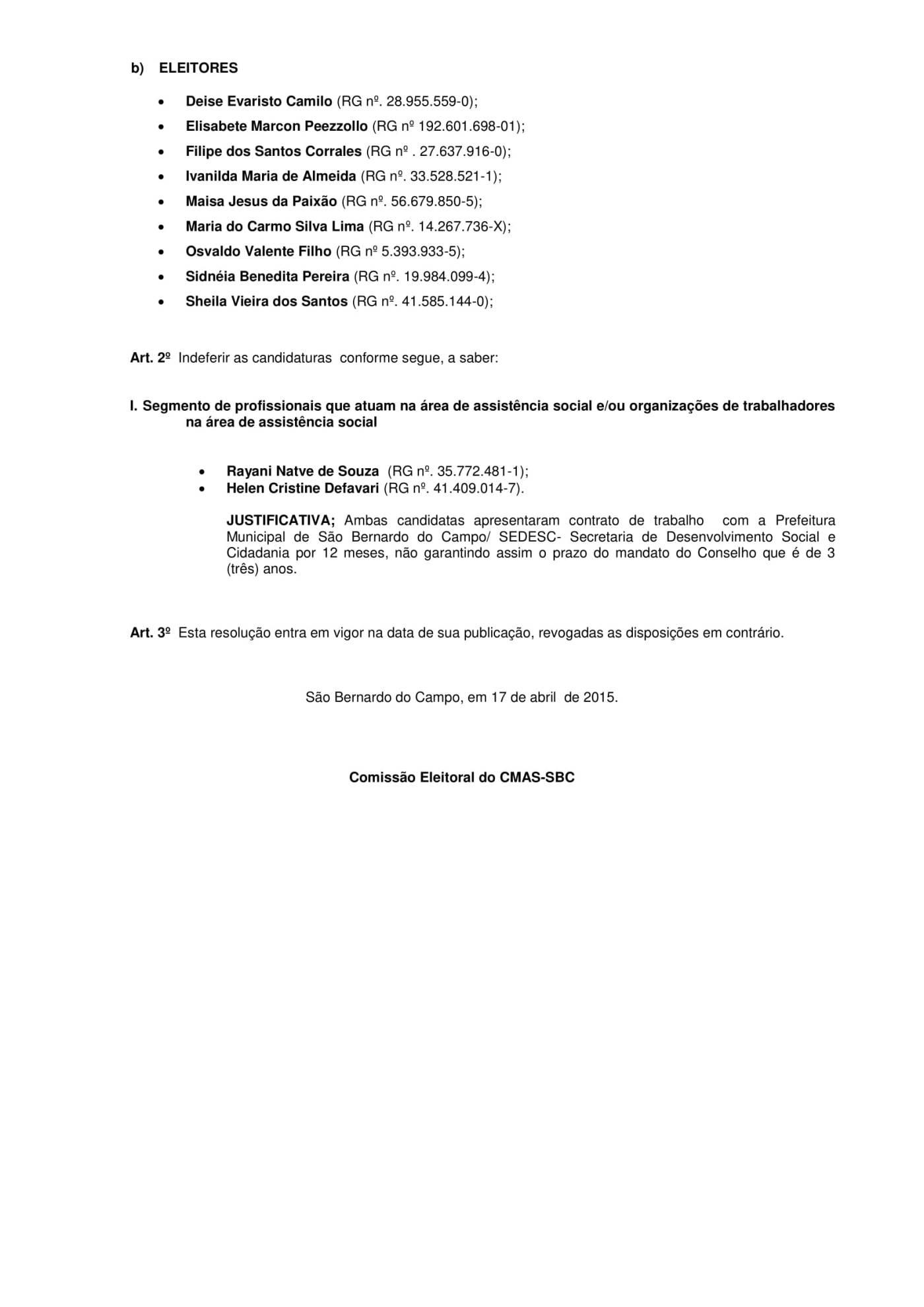 Resolução CMAS 323 15-3