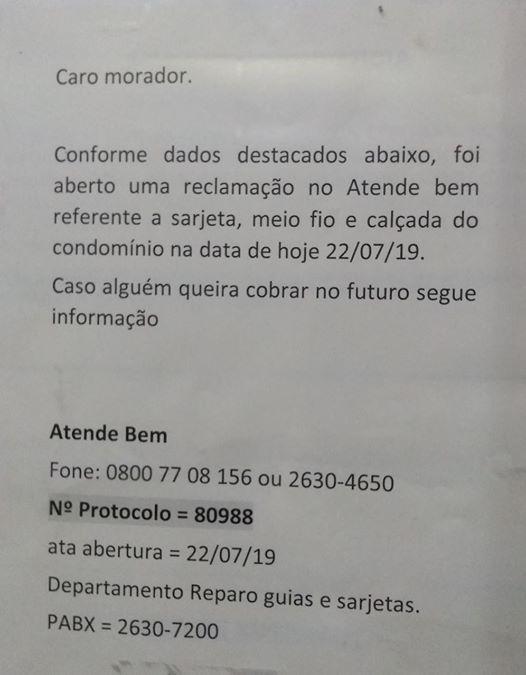 Atenção Secretaria de Serviços RUINS ops! Urbanos! Alou Bia Braga da SBCTRANS permita que a SU arrumeisso!