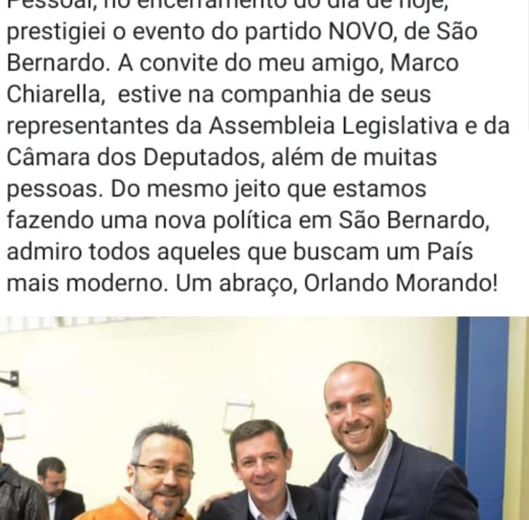 """Orlando Morando de olho no NOVO ou o """"NOVO"""" de olho noPSDB?"""