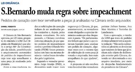 SBC: Vereadores dominados pelo Prefeito indiciado pela POLÍCIA FEDERAL por desvio de recursos de Merenda Escolar e de refeição de doentes em Hospitais Orlando Morando/PSDB agem inconstitucionalmente