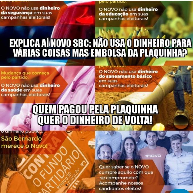"""Filiados e ex-Filiados do Partido """"NOVO"""" em São Bernardo querendo o dinheiro devolta!"""