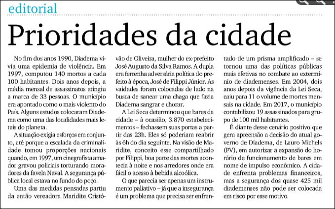 DGABC: inSEGURANÇA emDiadema..