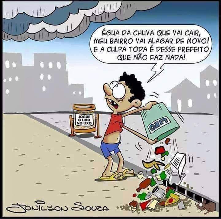 Lixo em locais públicos: A responsabilidade é de cada um denós!
