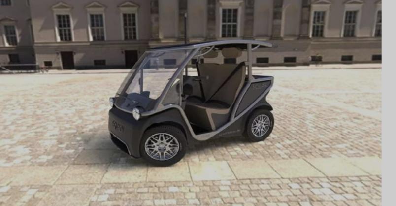 Carro elétrico movido a energia solar que não exige CNH chega em2022.